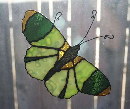Orange Spots Butterfly by Carol Boyette