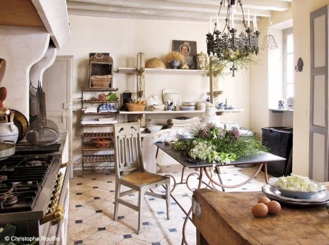 Cuisine campagne autrefois country french kitchens - Decoration interieur style campagne ...
