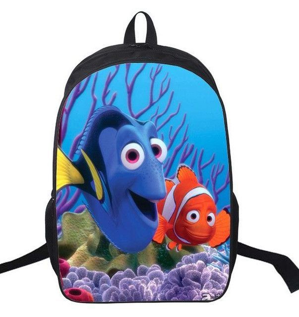 b4f3428c63f 16 Inch New Finding Nemo Backpack Customized Mochila Girls Boys Feminina  Children Travel Bag School Bag Teenage