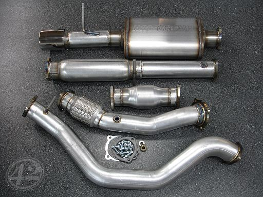 High performance parts made in the USA including exhaust systems, air intake systems, wheel spacers, wheel adapters, oil catch cans, and more.