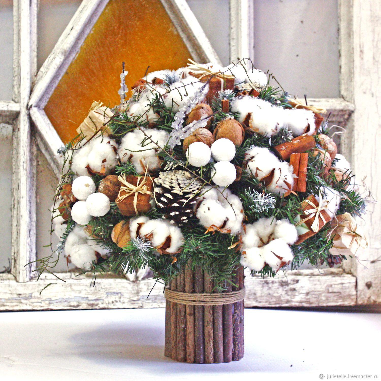 Композиции букеты новогодняя сказка, цветы