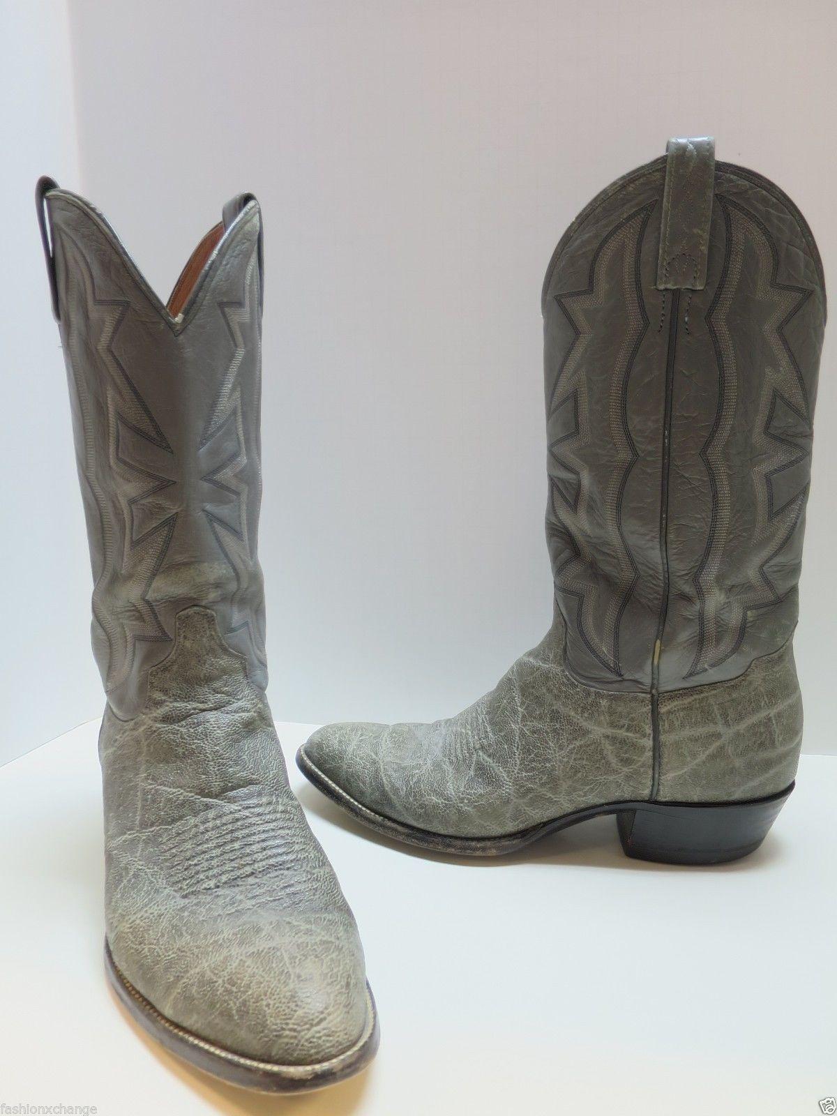 d51c2f17986 EL DORADO Grey Elephant Skin Men's Cowboy Boots Size 10 Price ...