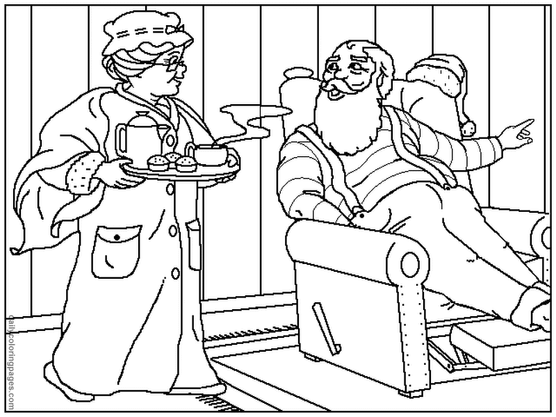 download and print these santa color pages coloring pages for free description from azcoloring - Santa Pictures To Color In For Free