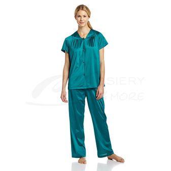 Vanity Fair 90807 Plus Size Coloratura Sleepwear Short Sleeve Pajamas 25 03 Womens Sleepw Short Sleeve Pajama Set Sleepwear Women Women S Plus Size Shorts