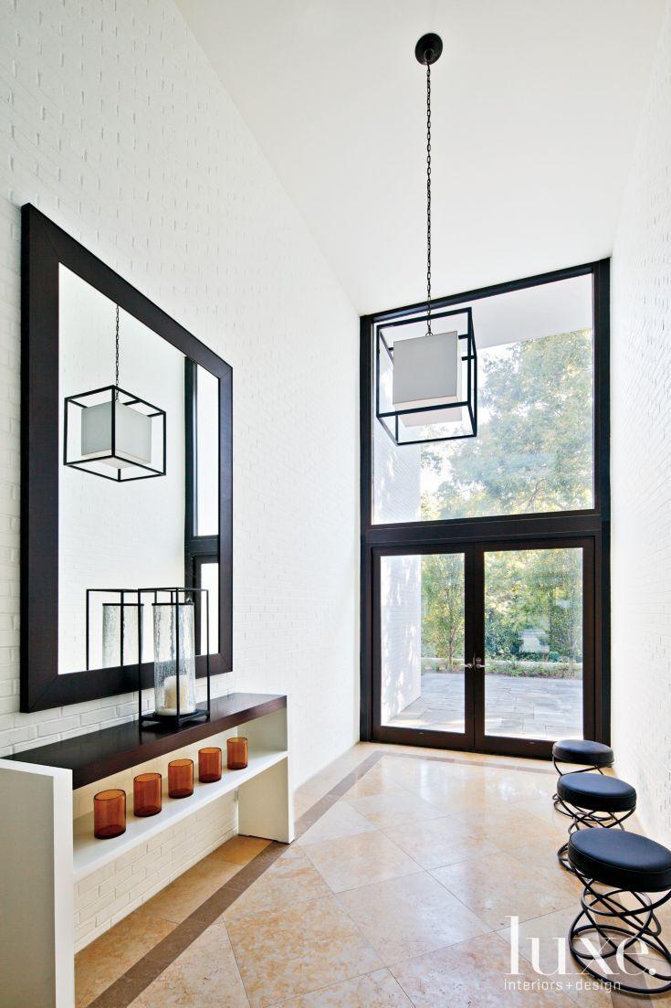 50 Contemporary Modern Interior Door Designs For Most: Contemporary White Foyer