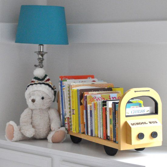 Build This Adorable Table Top Bookshelf To Organize Your Little Oneu0027s  Library!