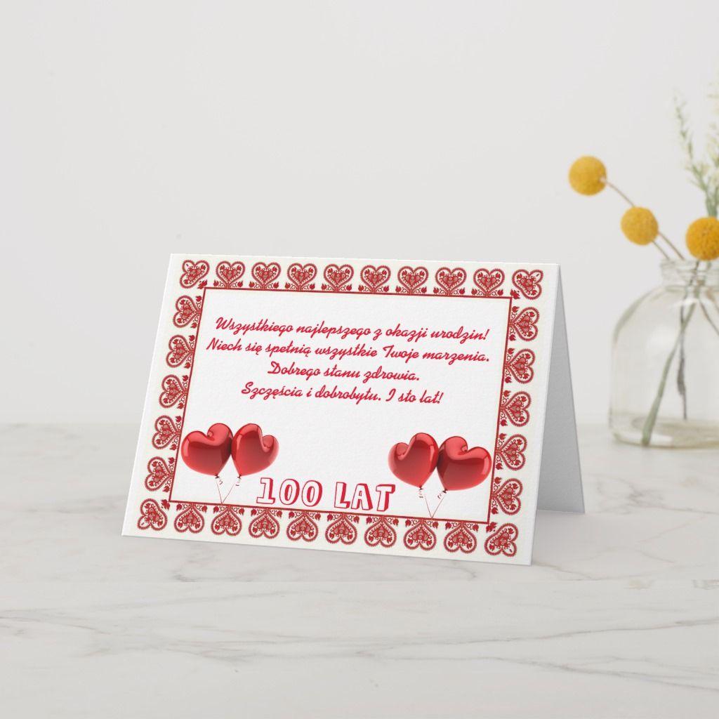 Happy Birthday In Polish Card Zazzle Com In 2021 Happy Birthday Happy Birthday Polish Birthday