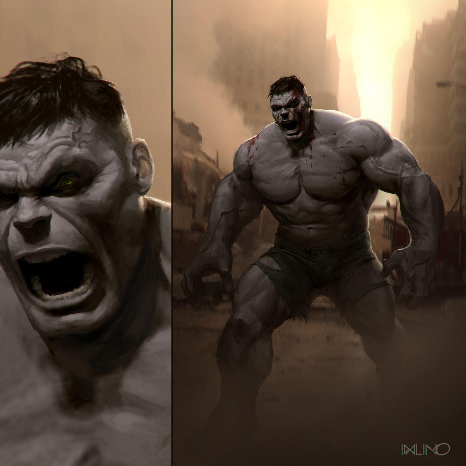 #Hulk #Fan #Art. (Gray Hulk) By: Aaron Sims (Creative challenge entry, Rodrigo Idalino) ÅWESOMENESS!!!™ ÅÅÅ+
