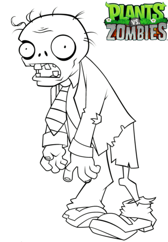 Plants Vs Zombies Coloring Page Coloring Books Coloring Pages Plant Zombie