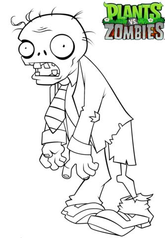 Plants Vs Zombies Coloring Page Dibujos De Zombies Zombies