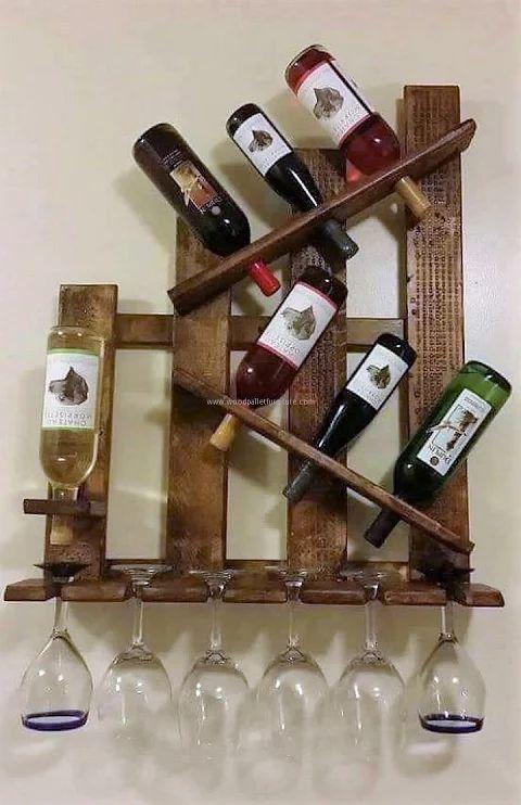 Photo of pallet-bottle-shelving
