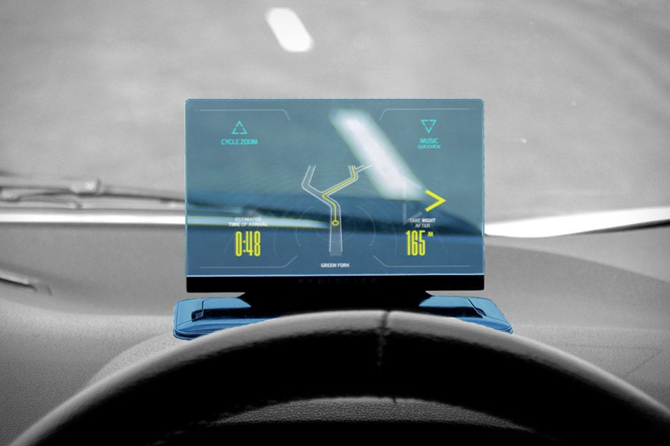 Anteprima Exploride, l'head up display per tutte le auto
