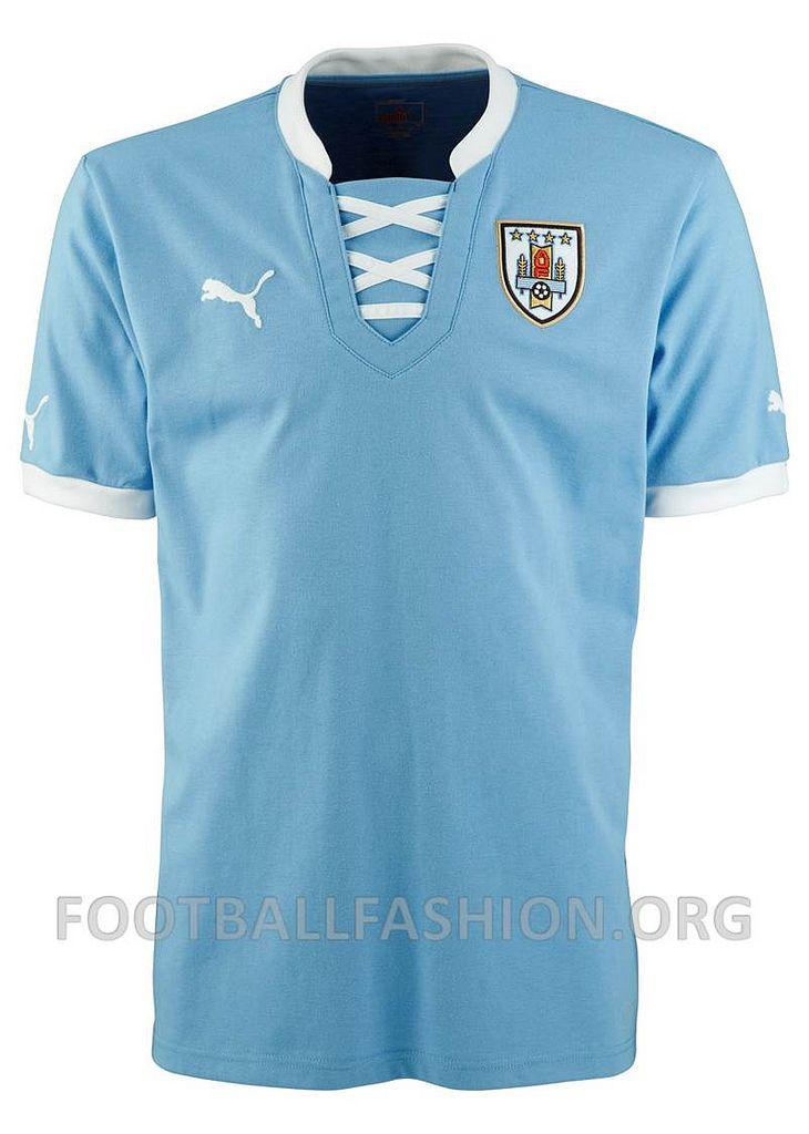 59628ea93 Uruguay 2013 PUMA FIFA Confederations Cup Home Jersey