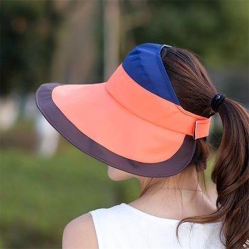 8995abb3c89 Women Summer UV Protection Gardening Hat Empty Top Beach Outdoor Sunscreen  Visor Sun Cap is designer