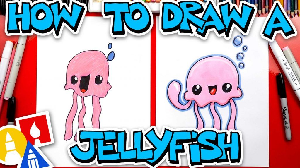 How To Draw A Cartoon Jellyfish - Art For Kids Hub - (With ...
