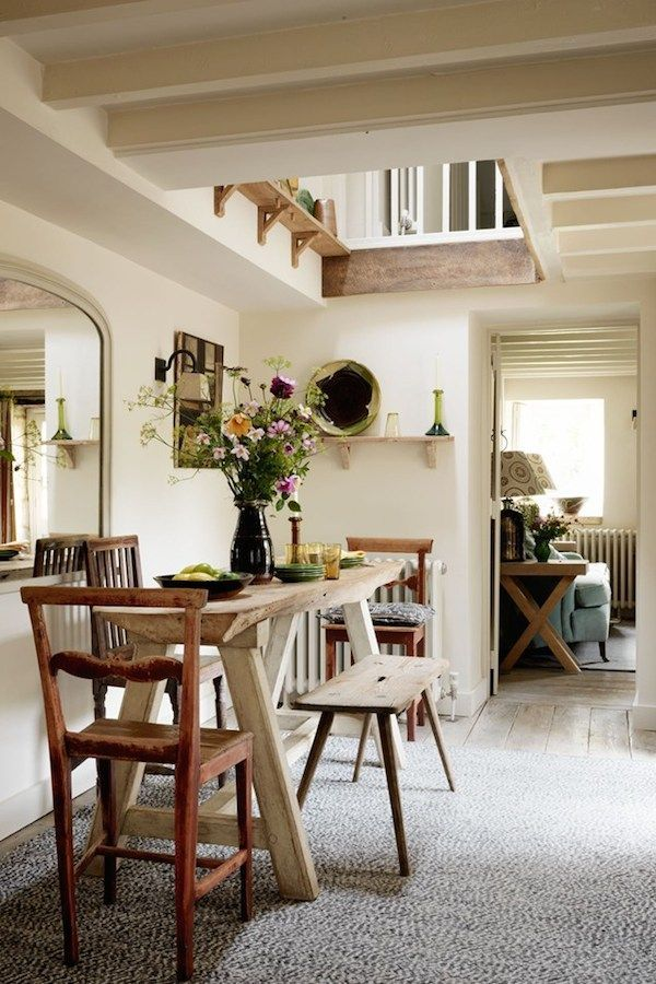 Charming Cottage Tour 5 Takeaway Tips Cottage Dining Rooms Dining Room Small Cottage Interiors