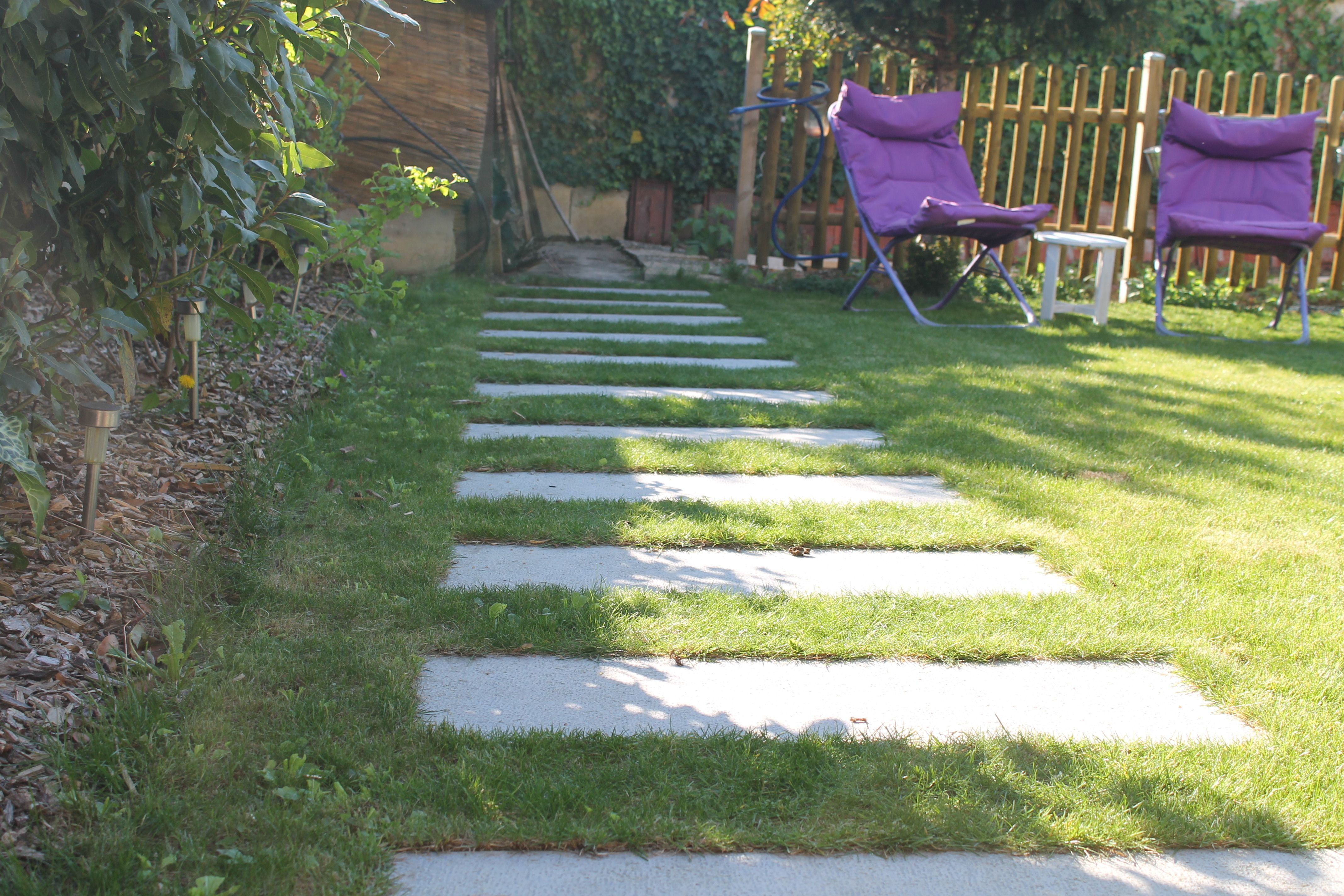 creation d une allee de jardin dalle