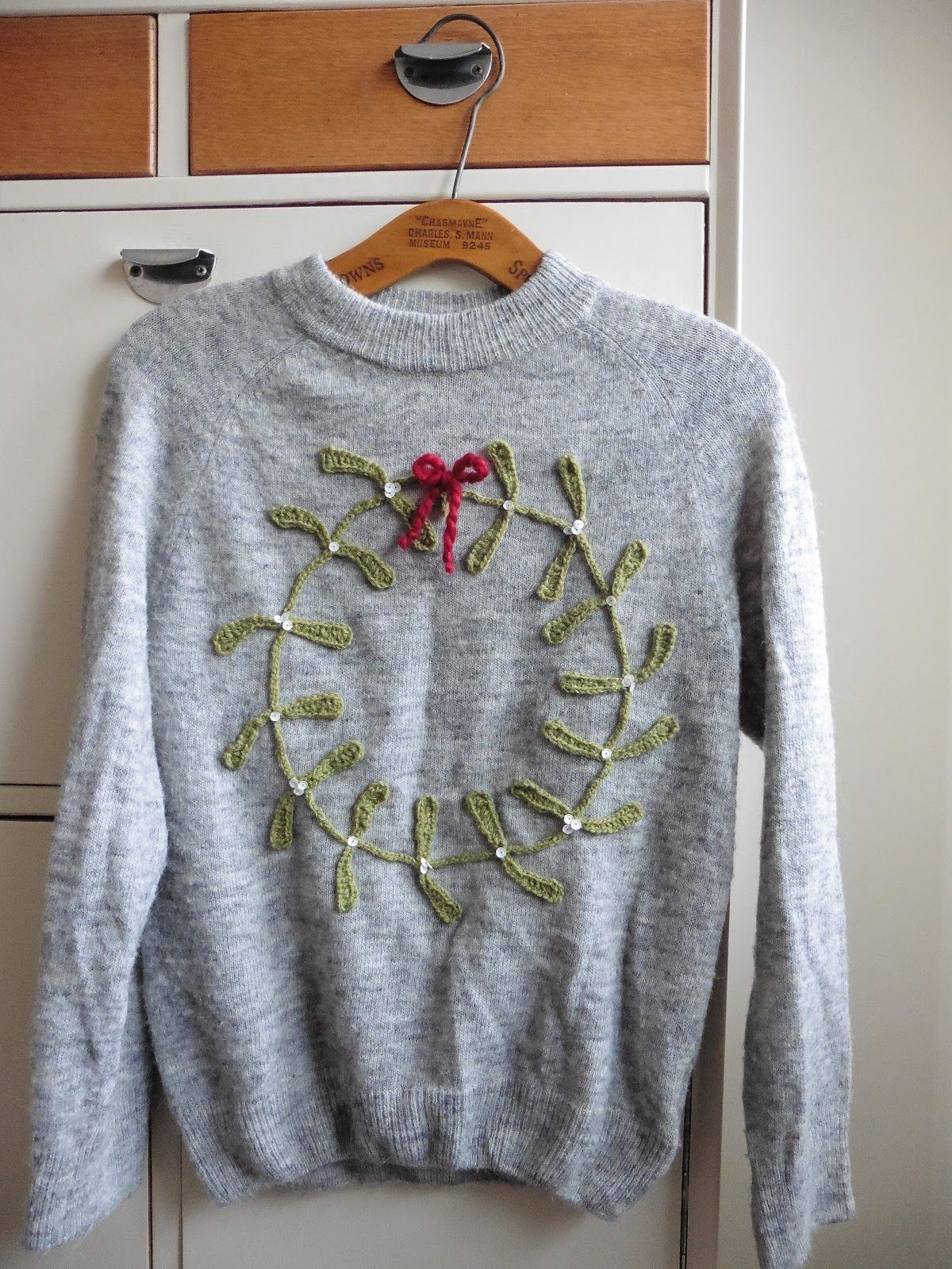 Rather late (or early) Christmas jumper. Idea from Esme Crick\'s ...