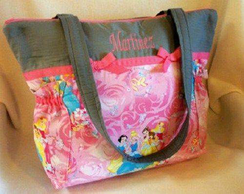 384a1a3e72 Boutique Disney fabric Pink princess duffle diaper bag or tote bag ...