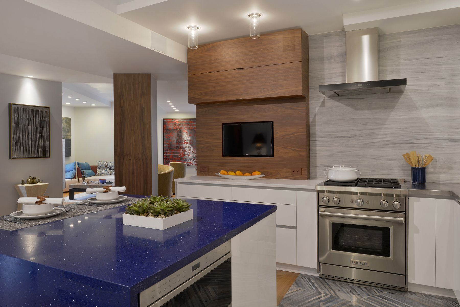 This Small Nyc Kitchen Features A Mix Of Natural Walnut And High Impressive Modern Kitchen Cabinets Nyc Inspiration Design
