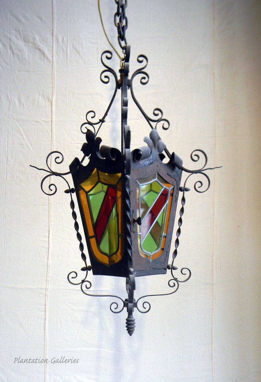 Wrought iron antique lantern chandelier circa 1900 france 775 at wrought iron antique lantern chandelier circa 1900 france 775 at 50 sale arubaitofo Gallery