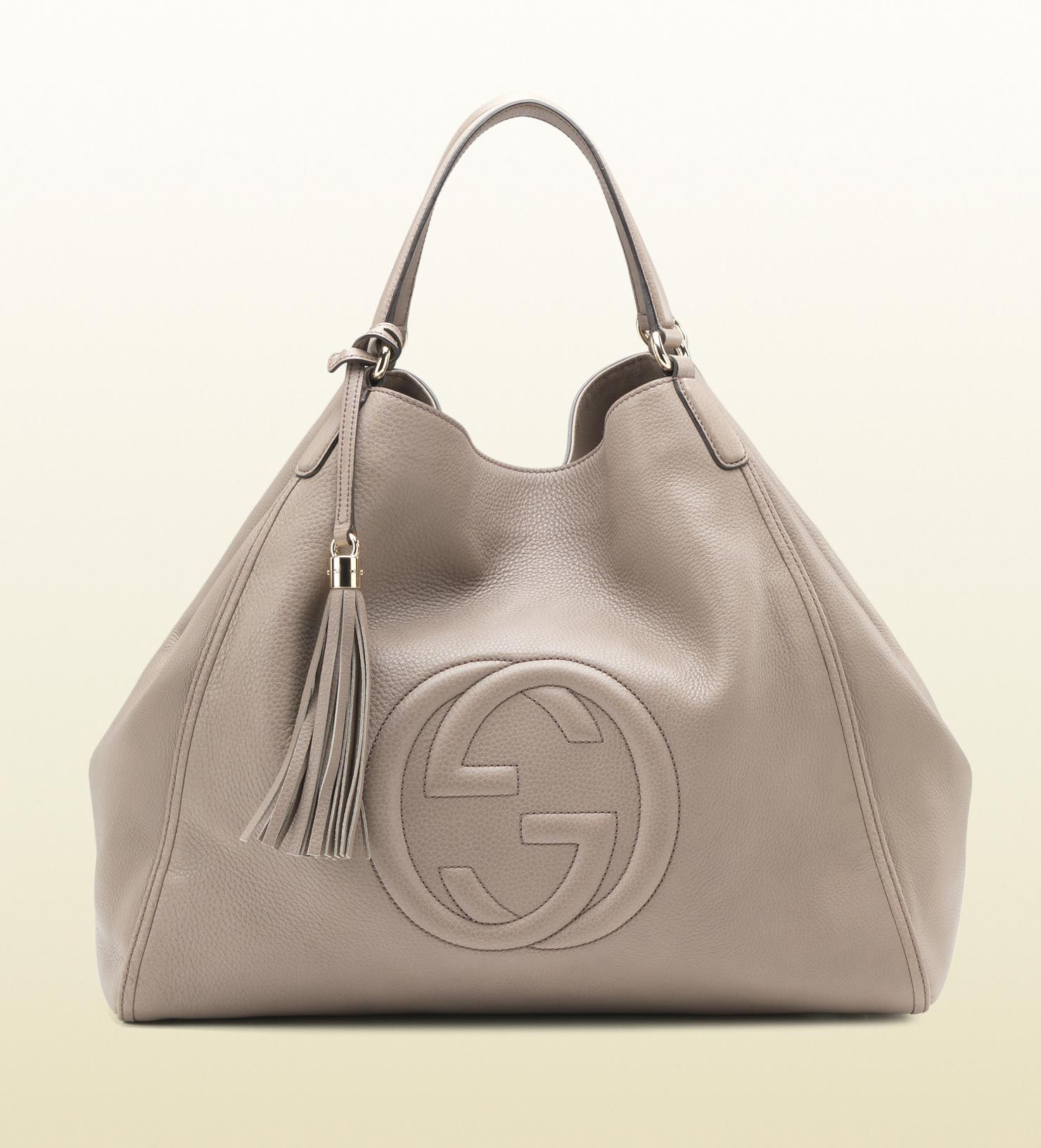 Gucci Soho Bag Fango Color Leather Shoulder