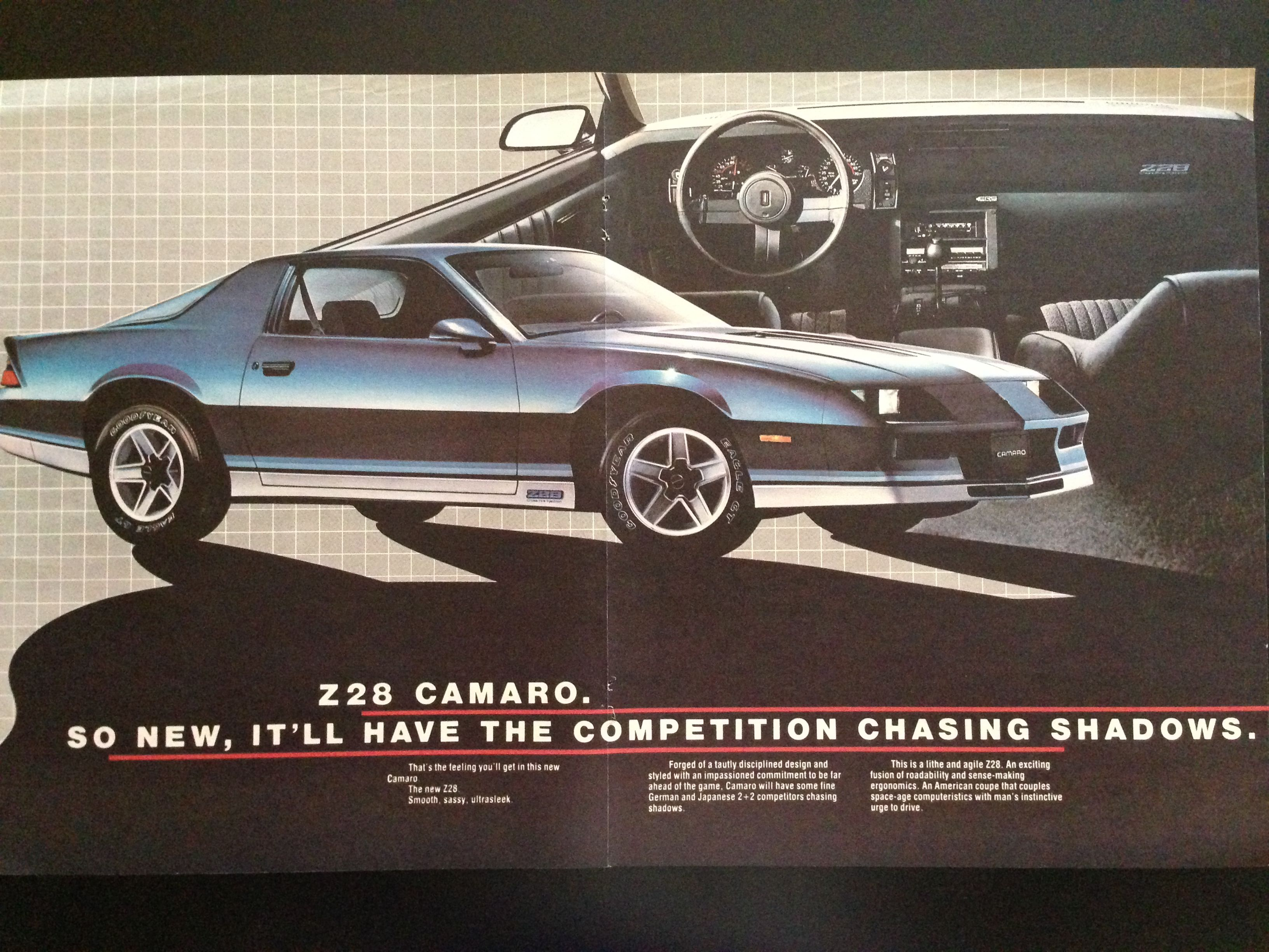 1982 Chevy Camaro ad#3 (blue) | Vintage Chevy Vehicle Ads