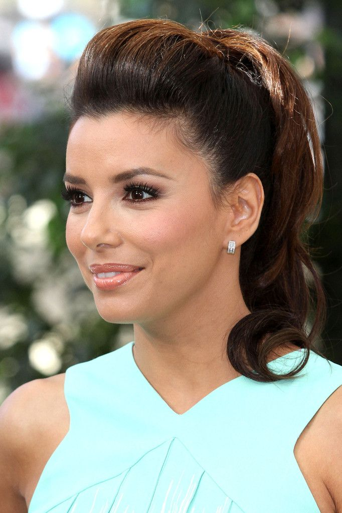Eva Longoria Loose Ponytail Hair Styles Bridal Hair Updo Wedding Hair And Makeup