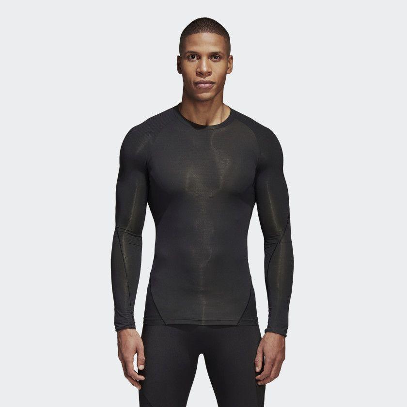 d4c78e6b Alphaskin Tech Tee | Men Fashion | Black adidas, Adidas, Shirts