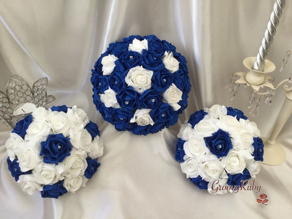 Royal Blue, Bouquet, Wedding Ideas, Artificial Wedding Flowers ...