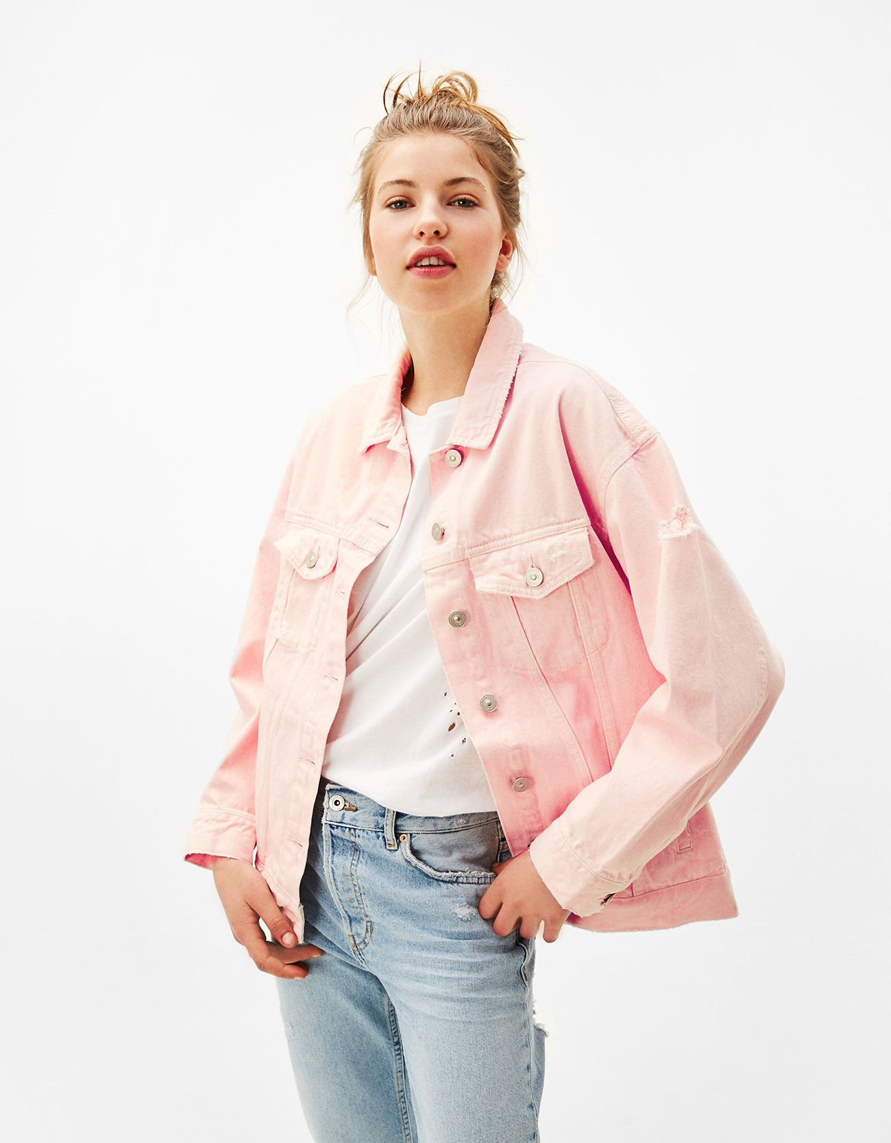 949dff888d6 Oversized denim jacket. Discover this and many more items in Bershka with  new products every week