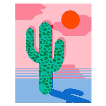East End Prints  A3 No Foolin Cactus Framed Print - Trouva