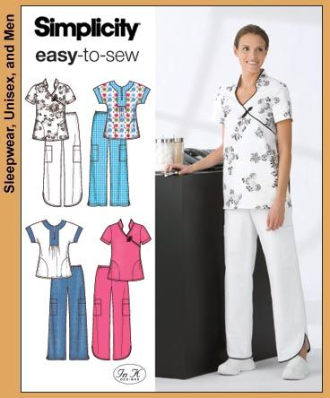 Simplicity 3705 from simplicity patterns is a scrubs for Spa uniform patterns