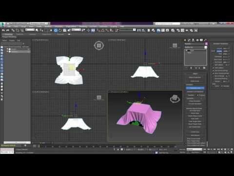 الدرس 49 Modifiers Cloth Part 2 3ds Max Youtube 3ds