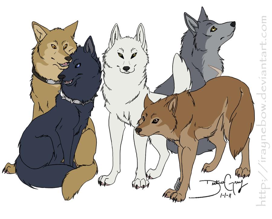 Картинки с волками из волчий дождь