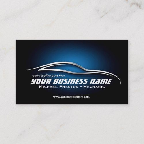 Pin On Mechanic Business Card Templates Custom Personalized Design