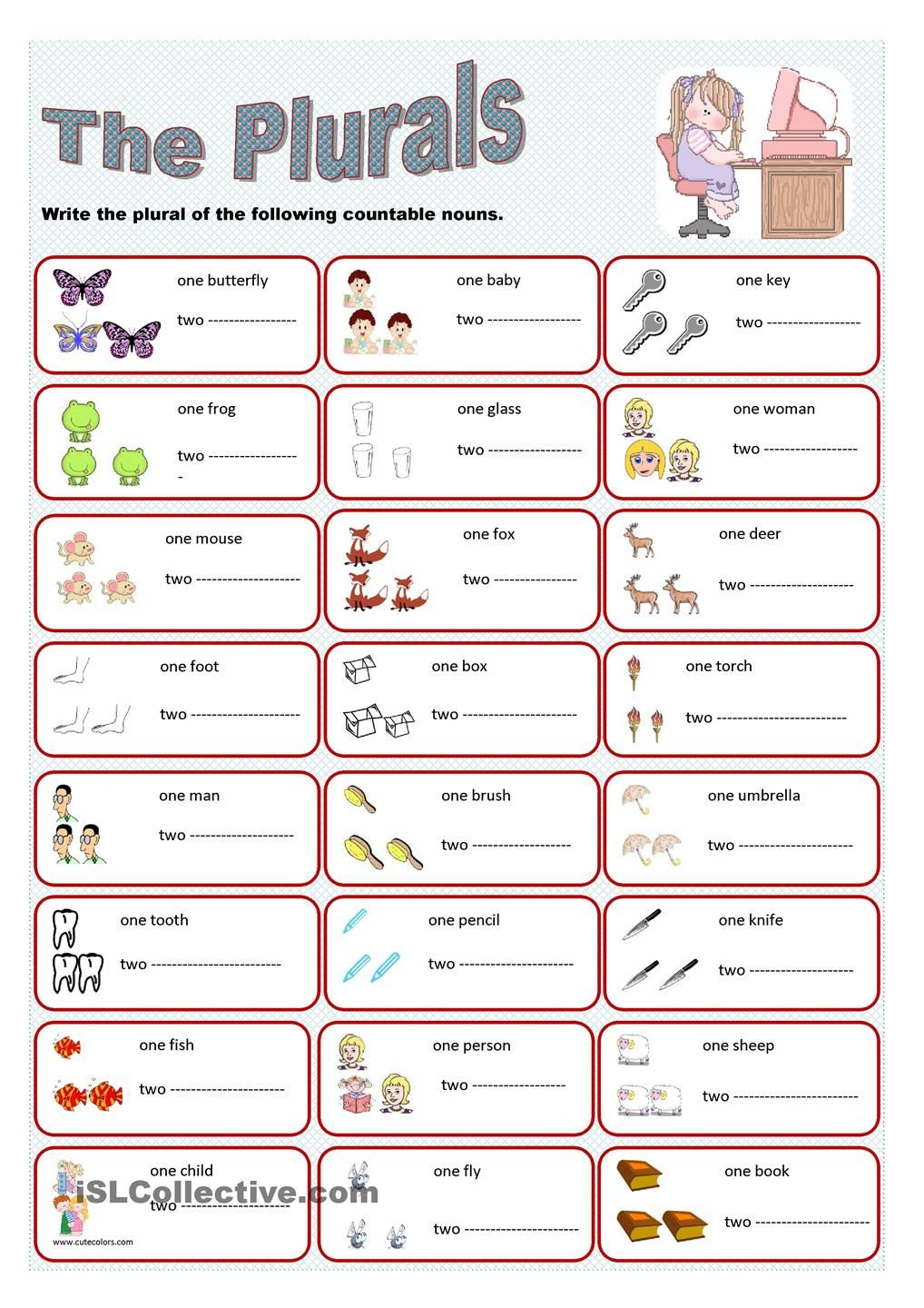Plural Nouns Worksheet 1 – Plural Worksheets for Kindergarten
