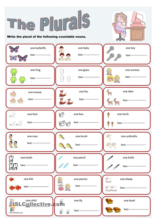 The plurals | school stuff | Pinterest | English, Plural nouns and ...