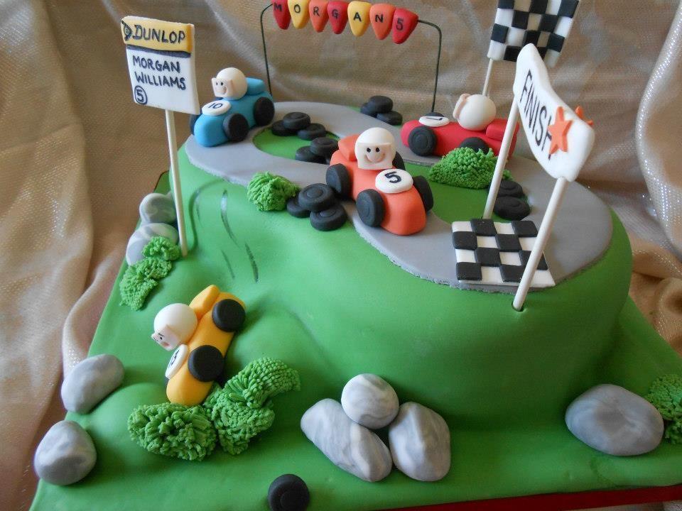 Racing Car Birthday Cake by Dream design Cake Company http