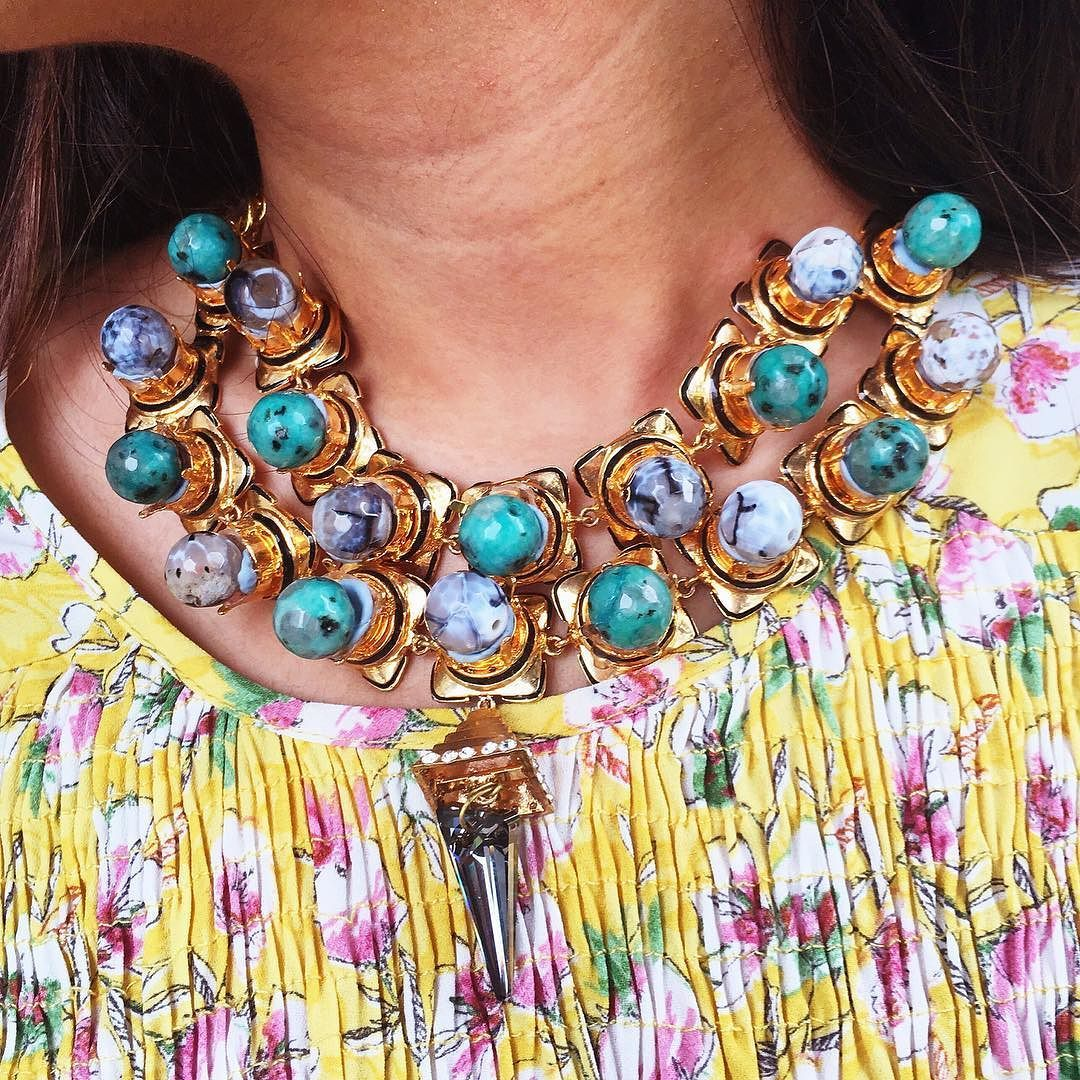 Floral vibes and our #AmazonianQueen necklace  #Prerto #Luxury #Fashion #Jewelry #Statement #Love #AboutAlook #Necklace
