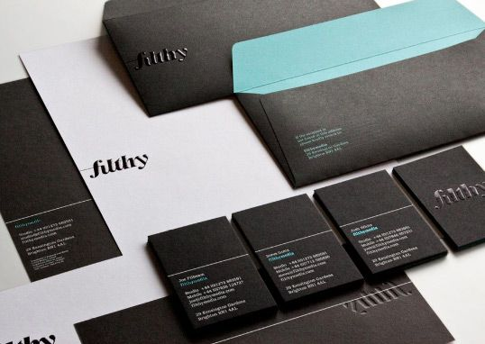 Filthy stationary business cards letterhead typeface typography filthy stationary business cards letterhead typeface typography black teal colourmoves