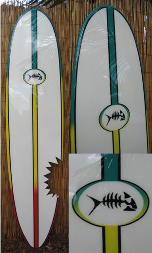 TIKI SOUL DECORATIVE SURFBOARD ART - Rasta Fish Surfboard decor ...