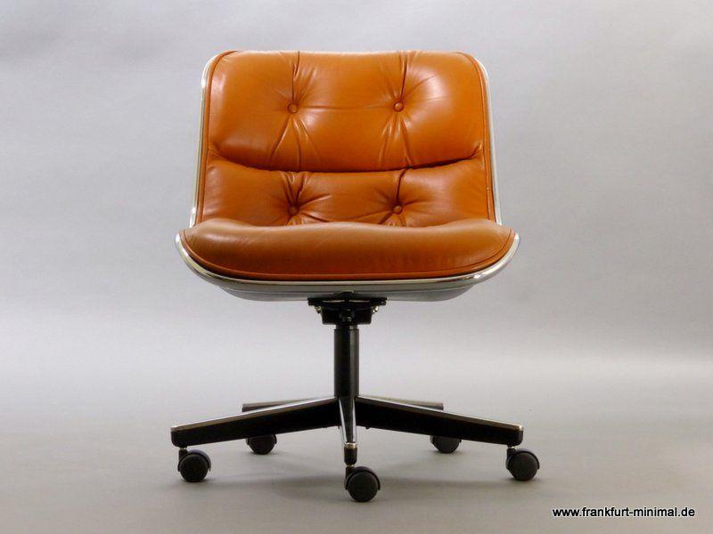 Pollock Executive Chair Knoll, Leather Cognac