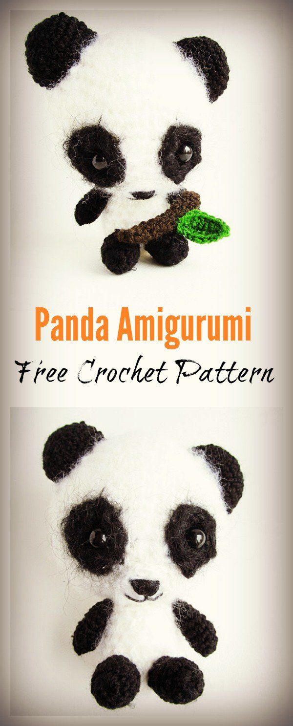 Panda Amigurumi Free Crochet Pattern | Pinterest | Llaveros, Osos y ...