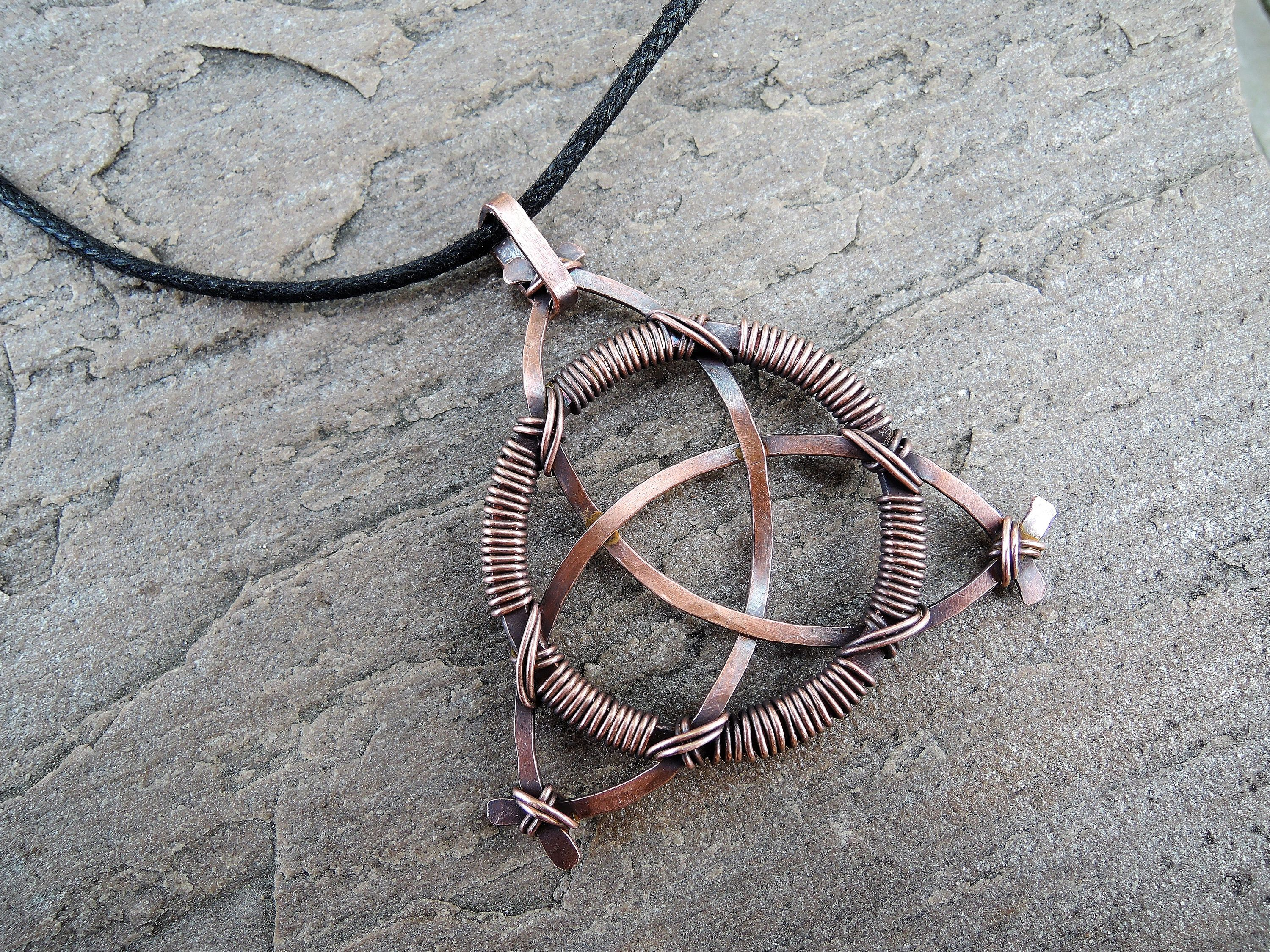 copper wire oxidized with natural pendant wrapped cabochon pin x amazing labradorite