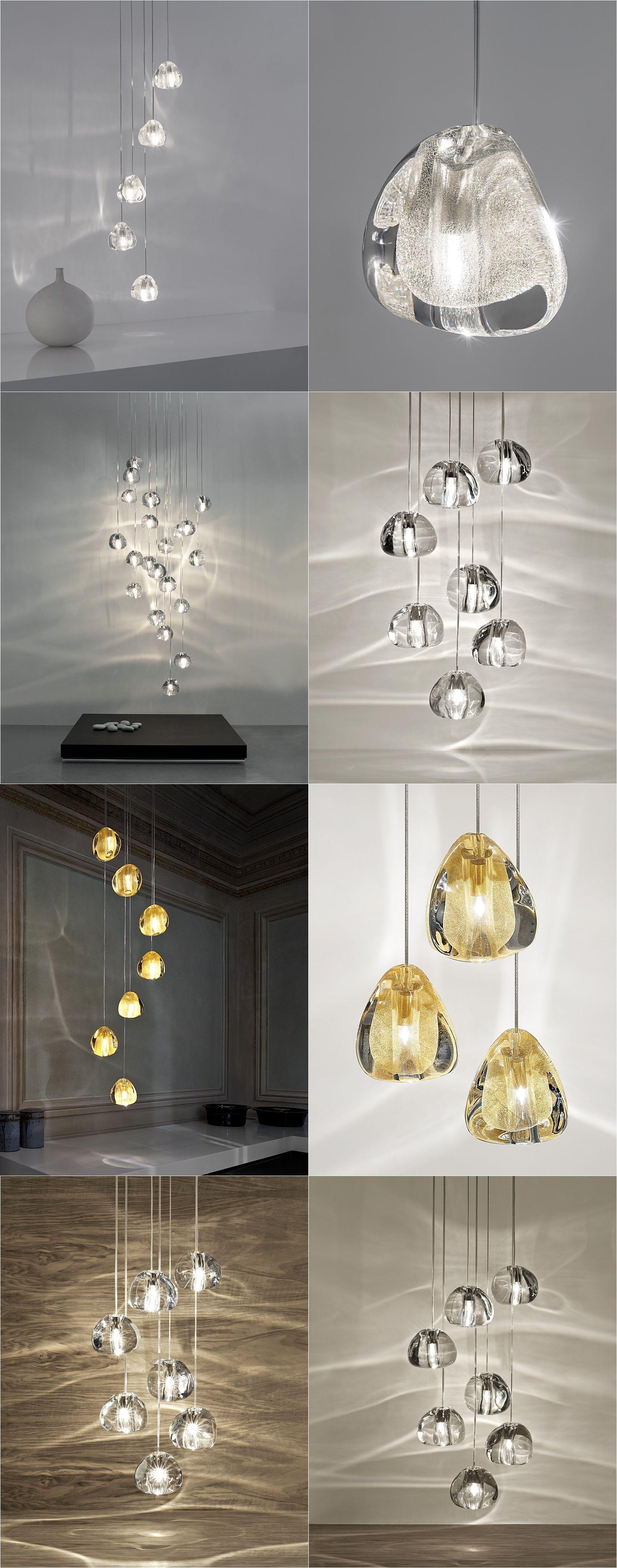 JUEJA Modern Crystal Chandeliers Light LED Ceiling Lamp