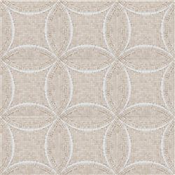 Interlocking Circles - Crema Marfil / Thassos    Beautiful Floor Tile