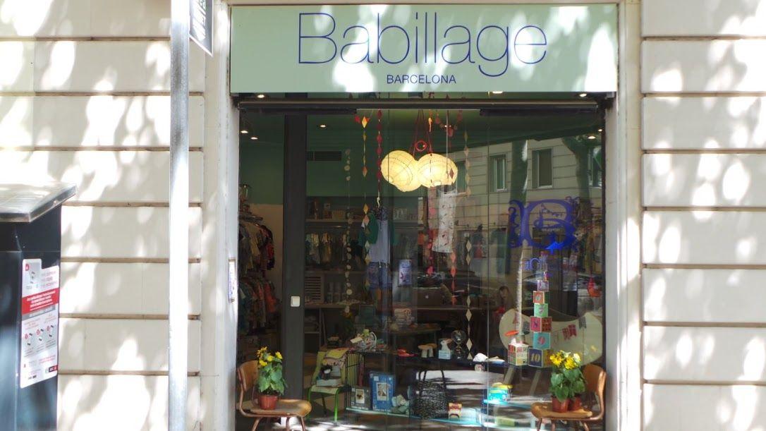 nuestra nueva tienda infantil babillage barcelona, en la calle