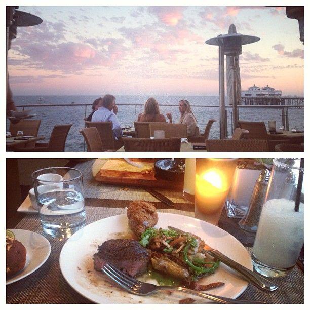 Sunset dinner at Carbon Beach Club. #MalibuBeachInn #CarbonBeachClub #ChefVictor #Malibu #oceanfront #dining #dinner #sunset