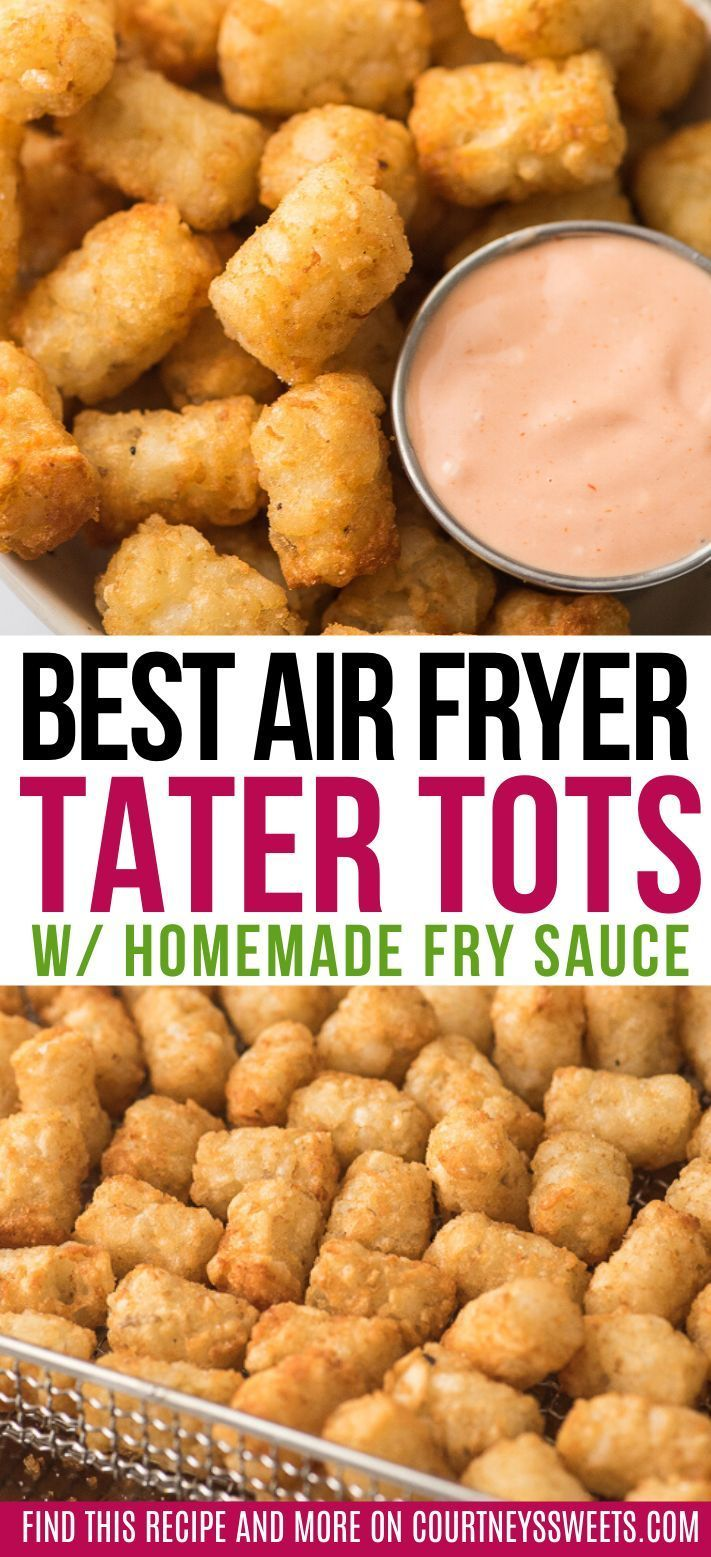 These Air Fryer Tater Tots are quick and easy to make and